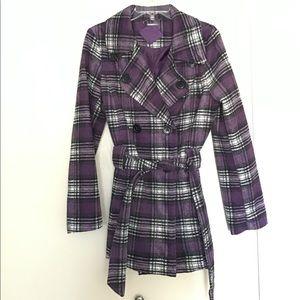 Purple & White Pea Coat
